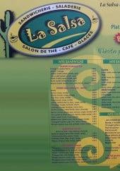 Menu La salsa - Sandwiches, salades, grillades,...