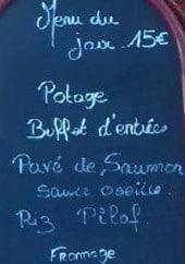 Menu Au Fil Des Saisons - exemple de menu