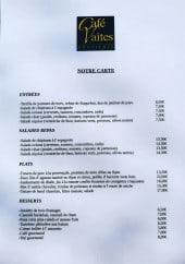Menu Café Vaîtes - Les entrées, salades, plats et desserts