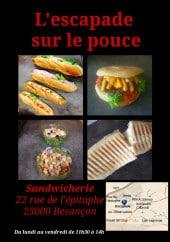 Menu L'Escapade - Carte et menu sandwiches des Escapade à Besancon