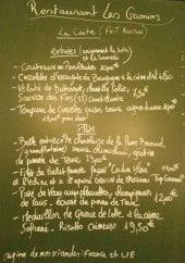 Menu Les Gamins - Exemple de menu