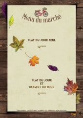 Menu Maison Barthod - Le menu du Marché