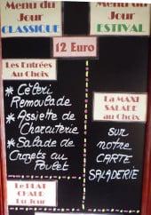 Menu L'Aquarelle - Exemple de menu
