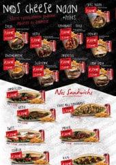 Menu Der-K Food - Menu cheese naan et sandwichs