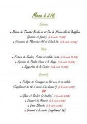 Menu La Bonne Auberge - Menu à 27€