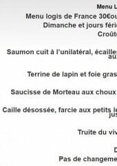 Menu Restaurant du Pont - Menu logis