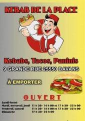 Menu Kebab De La Place - Carte et menu Kebab De La Place Bavans