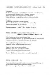 Menu L' Epicerie - Les menus