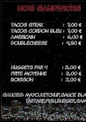 Menu Night food - Les sandwiches et menus