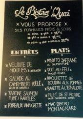 Menu Le Bistro'Quai - Les entrées et plats