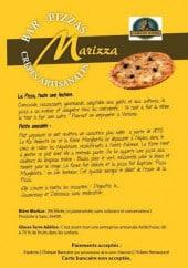 Menu Marizza - Carte et menu de Marizza à Romans sur Isere
