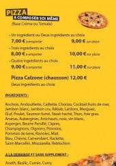 Menu Marizza - Les pizzas