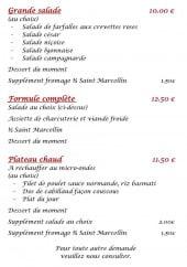 Menu Bar des Ailes - Le plateau chaud, la formule complète et grande salade