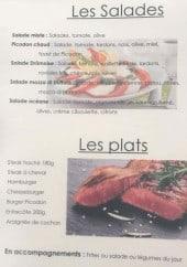 Menu Le café de la clairette - Salades et plats