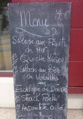 Menu La Petite Adresse - Exemple de menu
