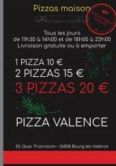 Menu Pizza Valence - Carte et menu Pizza Valence Bourg les Valence
