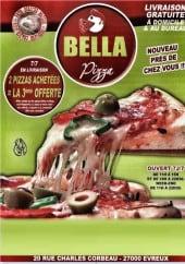 Menu Bella Pizza - Carte et menu Bella Pizza Evreux