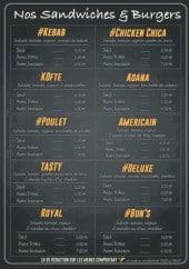 Menu Restaurant Gazi - Les sandwiches et burgers