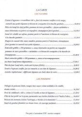 Menu Le Donjon - Les viandes, poissons