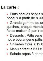 Menu Le Rive's - Les plats