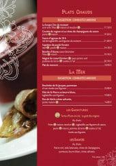 Menu Le Zinc - Les plats chauds, les fruits de mer et les garnitures