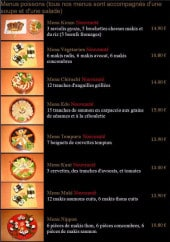 Menu Shogun sushi - Les menus poisson