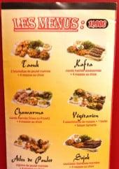 Menu Au coeur du Liban - Les menus