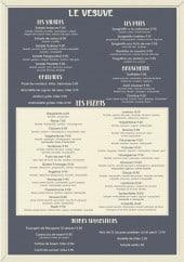 Menu Le Vesuve - Salades, grillades, pizzas,...