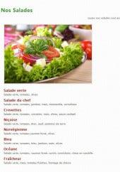 Menu Pronto Pizza - Les Salades