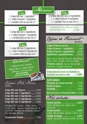 Menu La cabane à crêpes - Les menus page 2