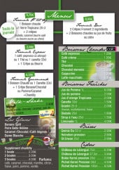 Menu La cabane à crêpes - Les menus