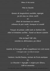 Menu La ferme de l'odet - Le menu 46 €