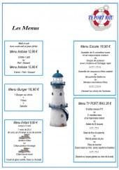 Menu Port Rhu - Les menus