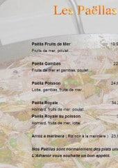 Menu Restaurant Athanor - Les paellas