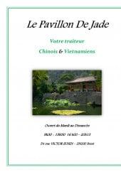 Menu Le pavillon de Jade - carte et menu pavillon de jade brest