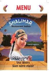 Menu Le Shalimar - Carte et menu Le Shalimar Brest