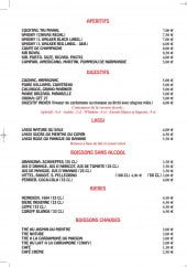 Menu Le Shalimar - Les apéritifs, digestifs, lassi...