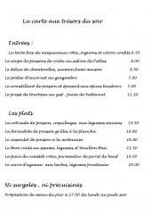 Menu Les freres de la cote - Entrees, plats...