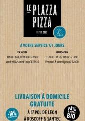 Menu Le Plazza Pizza - Carte et menu Le Plazza Pizza Saint Pol de Leon