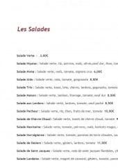 Menu La dolce vita - Les salades