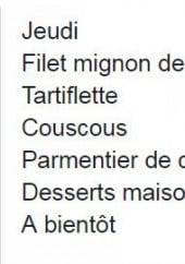 Menu Chez Violette - Exemple de menu du jour