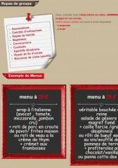 Menu La Crémaillère - Les menus de groupes