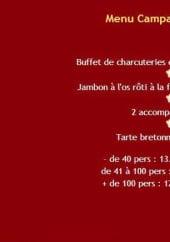 Menu Thierry Gastronomie - Le menu campagnard