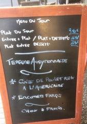 Menu Brasserie les Fleurs - Exemple de menu