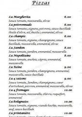 Menu L'Escale des Costieres - Les pizzas