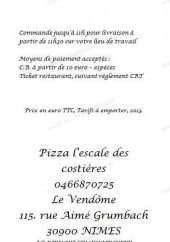 Menu L'Escale des Costieres - Carte et menu L'Escale des Costieres Nimes
