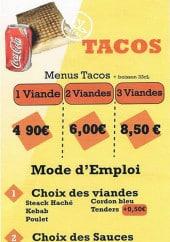 Menu Royal Tacos - Les tacos
