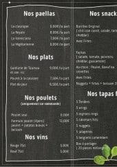 Menu Alespagnol-paellas - La carte