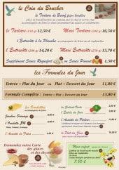 Menu Mon ti Restô - Les viandes et formules midi