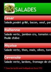 Menu Pizza Di Pierro - salades